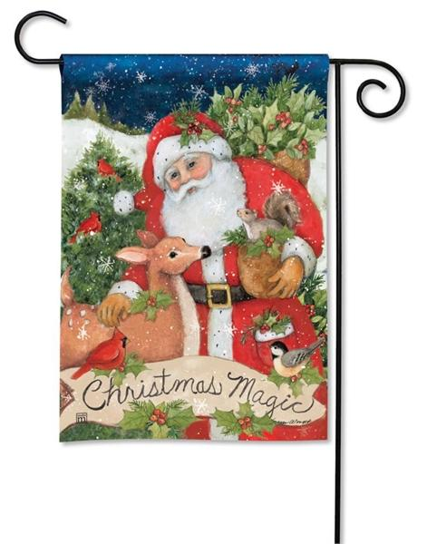 Santa with Forest Friends Garden Flag - I AmEricas Flags
