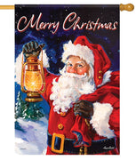 Santa with Lantern House Flag