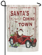 Santa's Coming to Town Sublimated Garden Flag