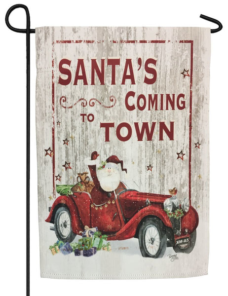 Santa's Coming to Town Sublimated Garden Flag - All Decorative Flags/Holidays/Christmas Flags - I AmEricas Flags