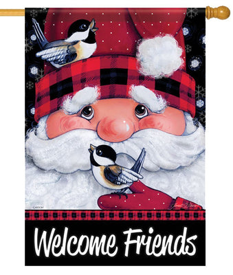 Santa's Feathered Friends House Flag