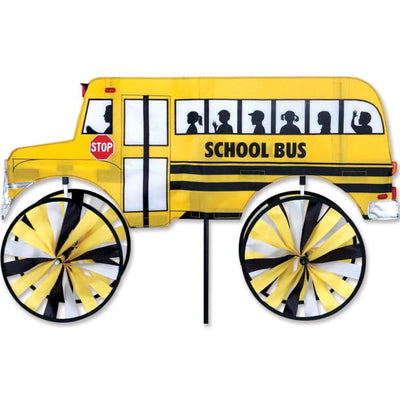 School Bus Large Wind Spinner