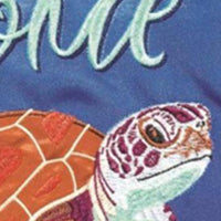 Sea Turtle Printed Applique Garden Flag Detail 2
