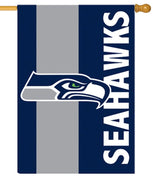 Seattle Seahawks Embellished Applique House Flag