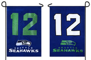 Seattle 12th Man 2 Sided Glitter Embellished Garden Flag