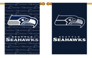 Seattle Seahawks 2 Sided Glitter Embellished House Flag
