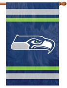 Seattle Seahawks Applique House Flag