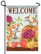 Signs of Autumn Garden Flag