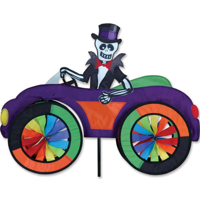 Skeleton in a Car Wind Spinner
