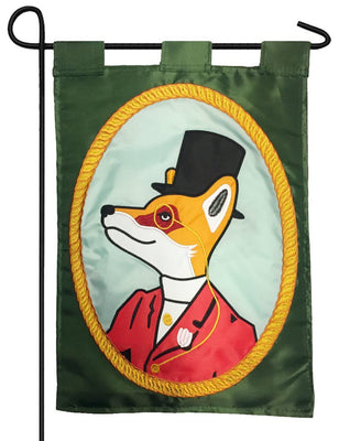 Snooty Fox Double Applique Garden Flag
