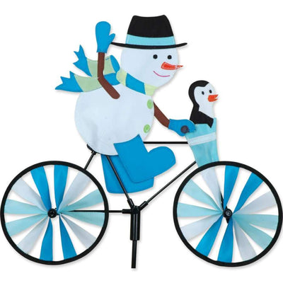 Snowman Bicycle Wind Spinner