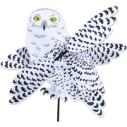 Snowy Owl Large WhirliGig Wind Spinner