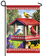 Songbirds Bird Feeder Garden Flag