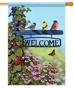 Songbirds and Welcome Post House Flag