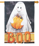 Spooky Boo Ghost House Flag