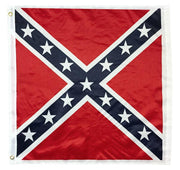 "Square Confederate Battle Flag 32""x32"" Printed Polyester"