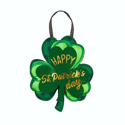 St. Patrick's Shamrocks Decorative Door Hanger
