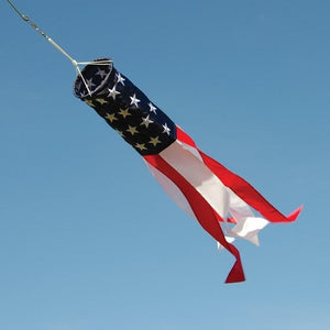 Stars and Stripes Embroidered Windsock 33 Inch