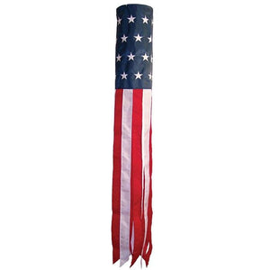 Stars and Stripes Embroidered Windsock 60 Inch