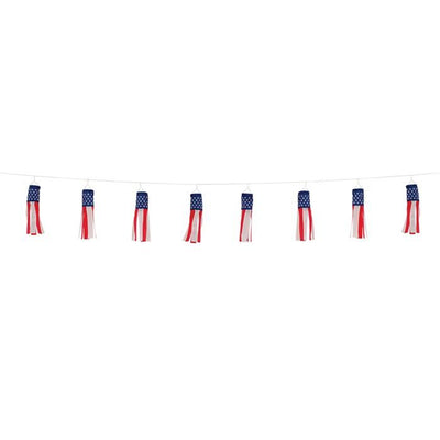 Stars & Stripes String of Baby Windsocks