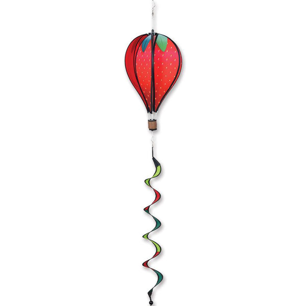 Strawberry Hot Air Balloon with Tail Spinner
