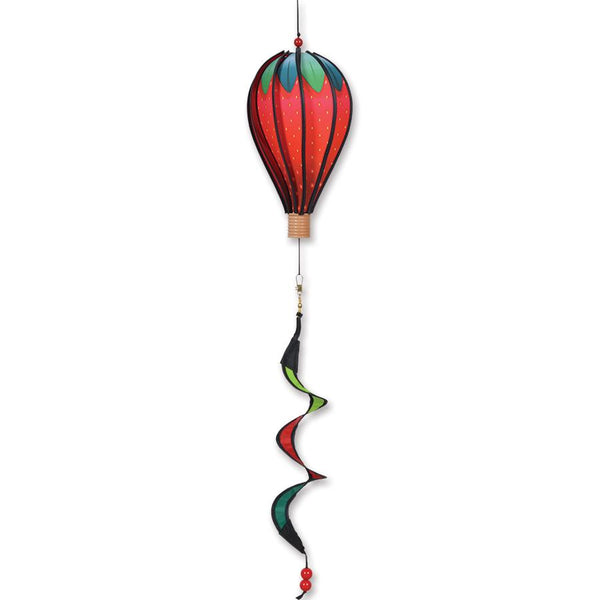 Strawberry Small Hot Air Balloon with Tail Spinner