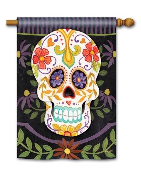 Sugar Skull House Flag