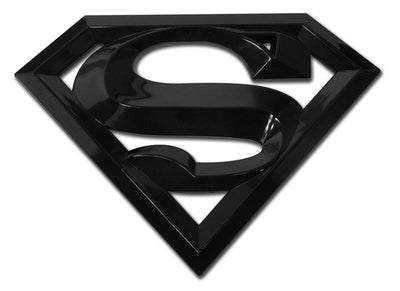 Superman 3D Black Car Emblem Oversized