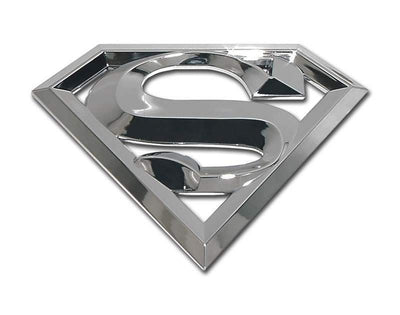 Superman 3D Chrome Car Emblem Oversized