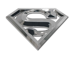 Superman 3D Chrome Car Emblem