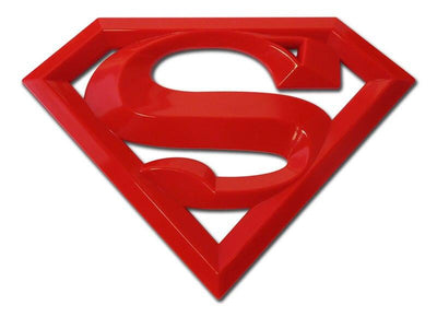 Superman 3D Red Car Emblem Oversized