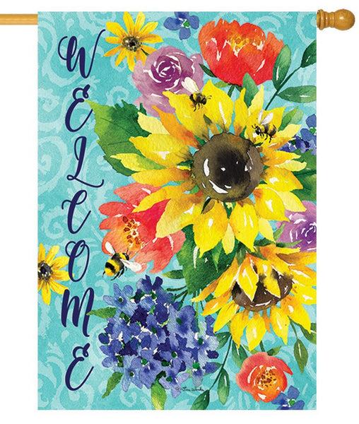 Summer Sunflower Bouquet House Flag