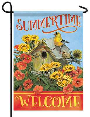 Summertime Welcome Garden Flag