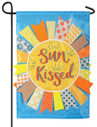 Sun Kissed Double Applique Garden Flag