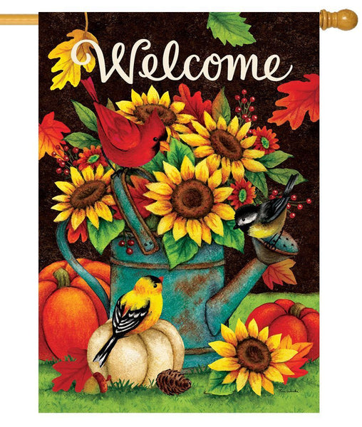 Sunflower Birds House Flag