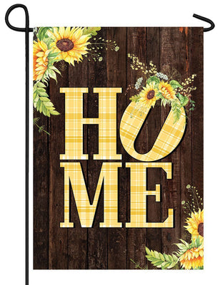Sunflowers Home Fall Garden Flag