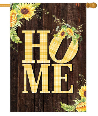 Sunflowers Home Fall House Flag