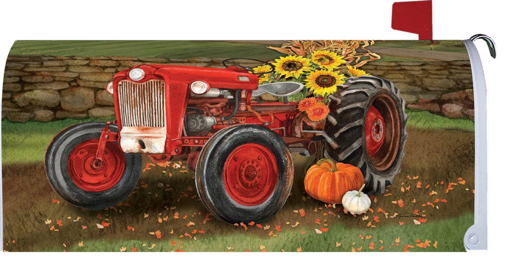 Sunflower Tractor Mailbox Cover