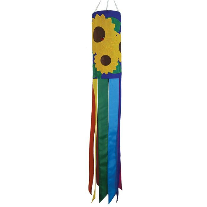 Sunflowers Embroidered Windsock