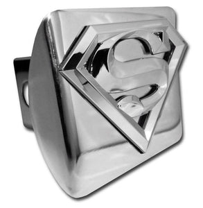 Superman 3D Shiny Chrome Hitch Cover - Chrome Car Emblems | Trailer Hitch Covers/DC Comics Emblems - I AmEricas Flags