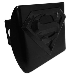 Superman Black 3D Black Hitch Cover