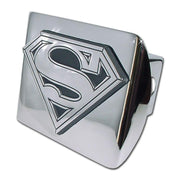 Superman Shield Shiny Chrome Hitch Cover