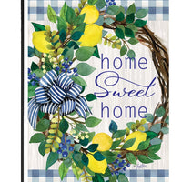 Sweet Home Lemon Wreath Garden Flag - I AmEricas Flags