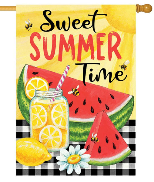Sweet Summer Watermelon House Flag - I AmEricas Flags