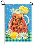 Sweet Tea and Jesus Garden Flag