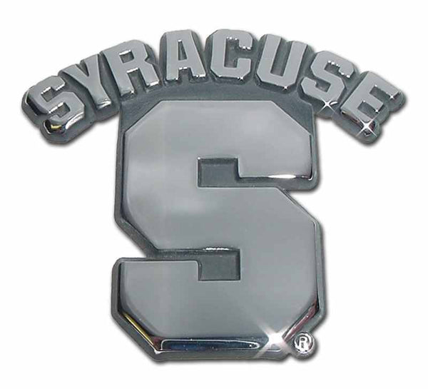 Syracuse University Chrome Car Emblem