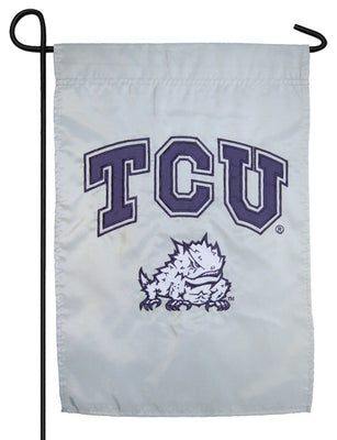 TCU Horned Frogs Applique Garden Flag