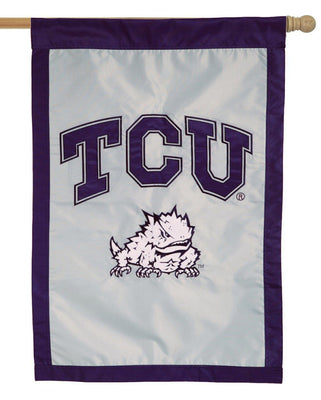 TCU Horned Frogs Applique House Flag