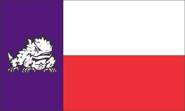 TCU Horned Frogs Texas State Style 3x5 Flag