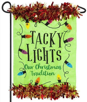 Tacky Lights Applique Garden Flag
